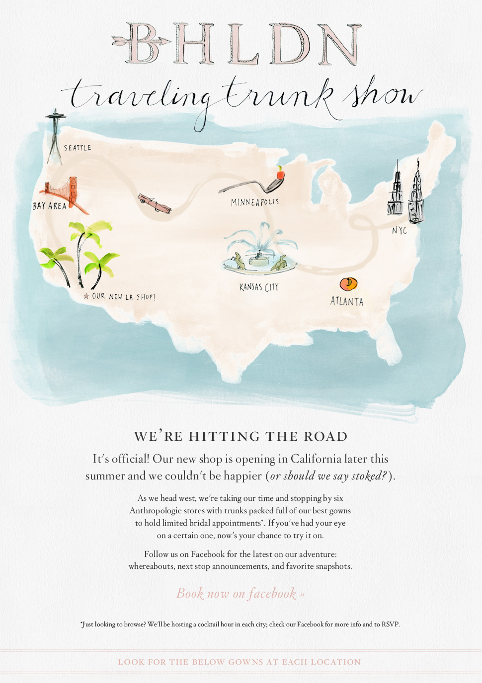 BHLDN Traveling Trunk Show