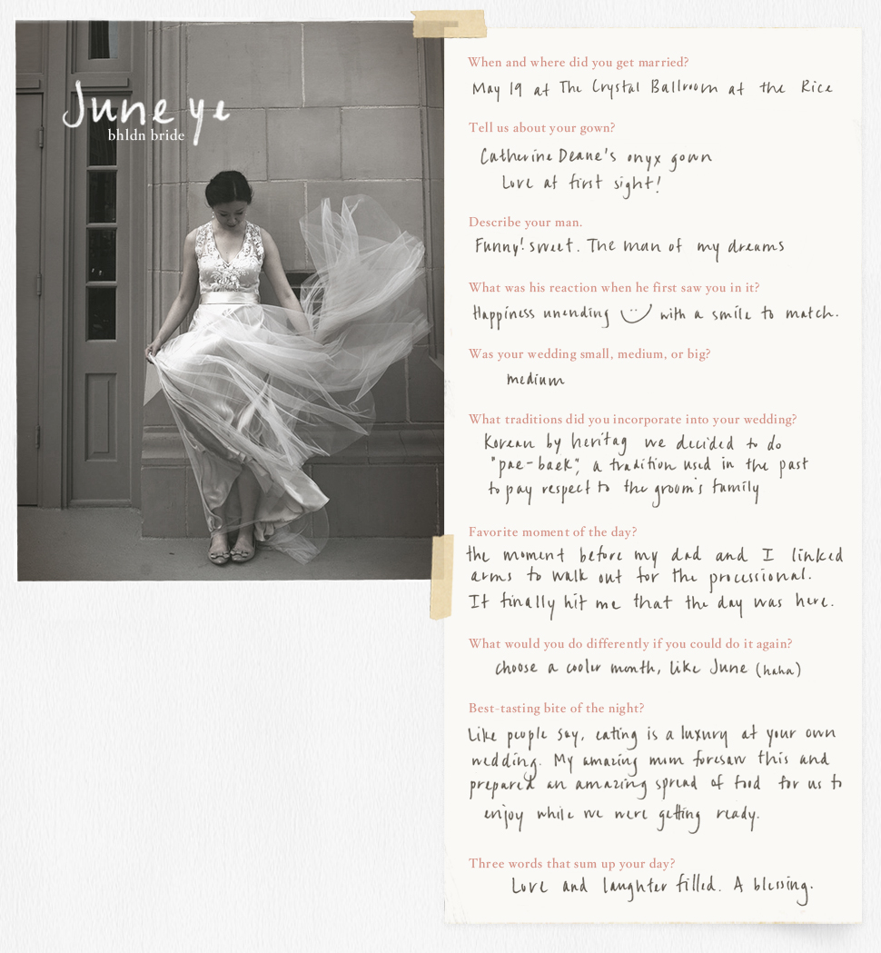 Real brides interview fairytale wedding stories b inspired bhldn real bhldn bride junglespirit Image collections