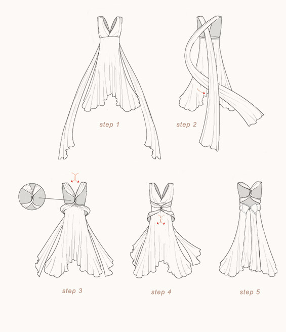 How To Tie The Ginger Convertible Maxi Dress