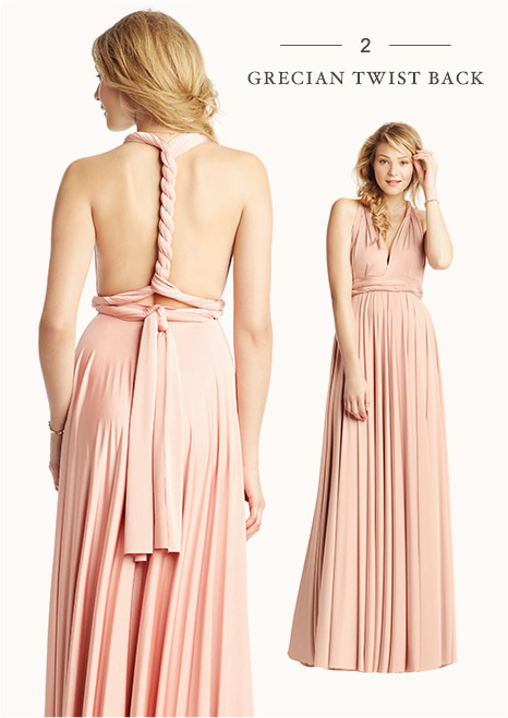 2: Grecian twist back - Convertible Bridesmaid Dress Styles B-Inspired BHLDN