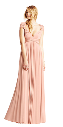 How To Wear A Convertible Bridesmaid Dress Bhldn