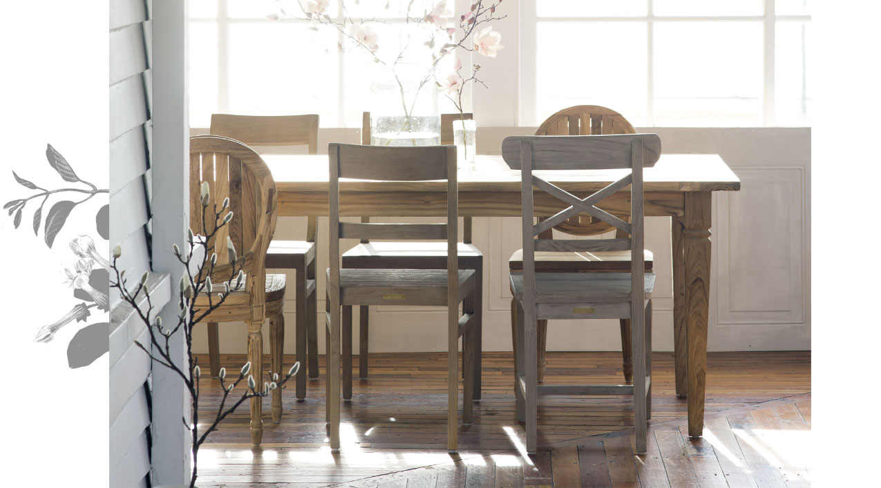 Good Company | all-weather teak chairs for indoors now and outdoors later | shop the collection