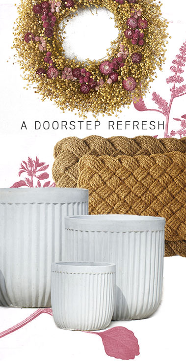 A Doorstep Refresh | wreaths, doormats + decor