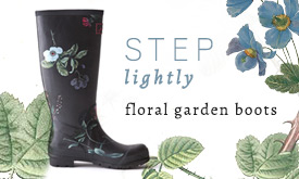 Step Lightly! Floral Garden Boots