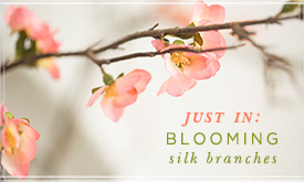 Just In: Blooming Silk Branches