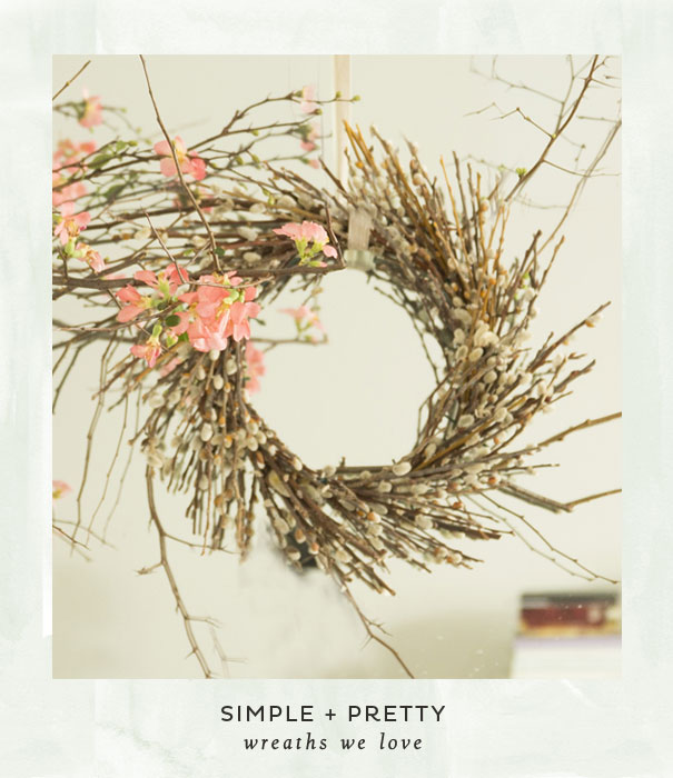 Simple + Pretty wreaths we love