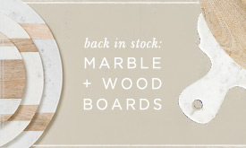 Back in Stock | Marble + Wood Boards