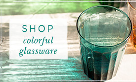 SHOP colorful glassware