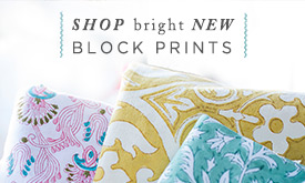 Shop bright NEW BLOCK PRINTS