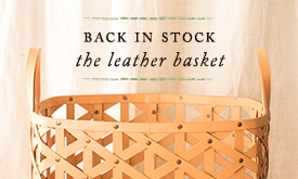 Back In Stock: The Leather Basket