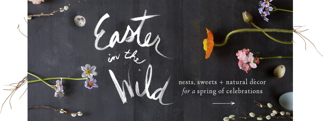 Easter in the Wild | nests, sweets + natural décor for a spring of celebrations | hop to it