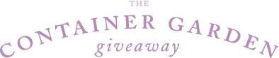 The Container Giveaway Garden