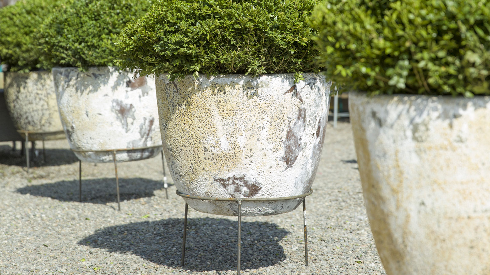 Barnacle Planters | hand-crafted from lightweight + frost resistant fiber concret and now | BACK IN STOCK