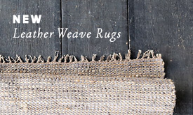 Just In: Leather Weave Rugs