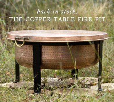Back in Stock: The Copper Table Fire Pit