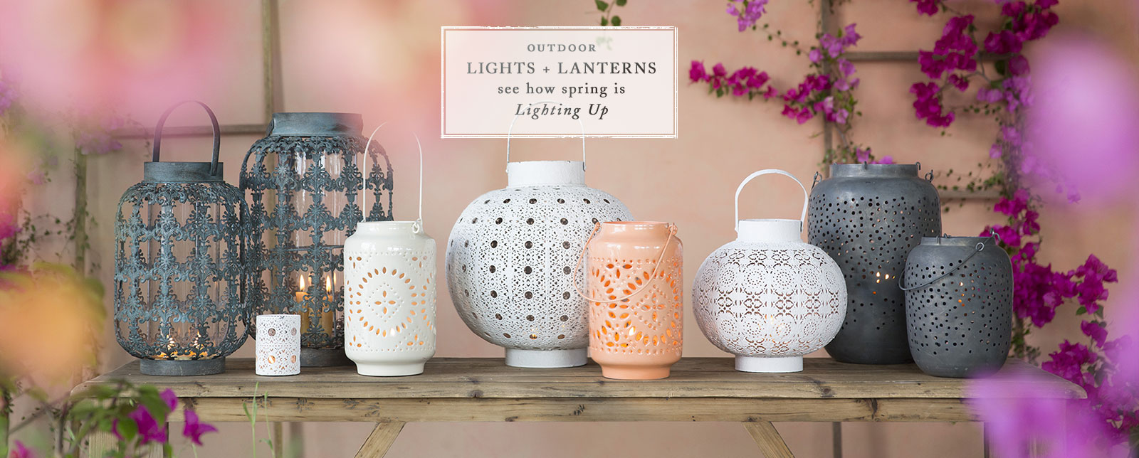 Outdoor Lights + Lanterns | See How Spring is Lighting Up