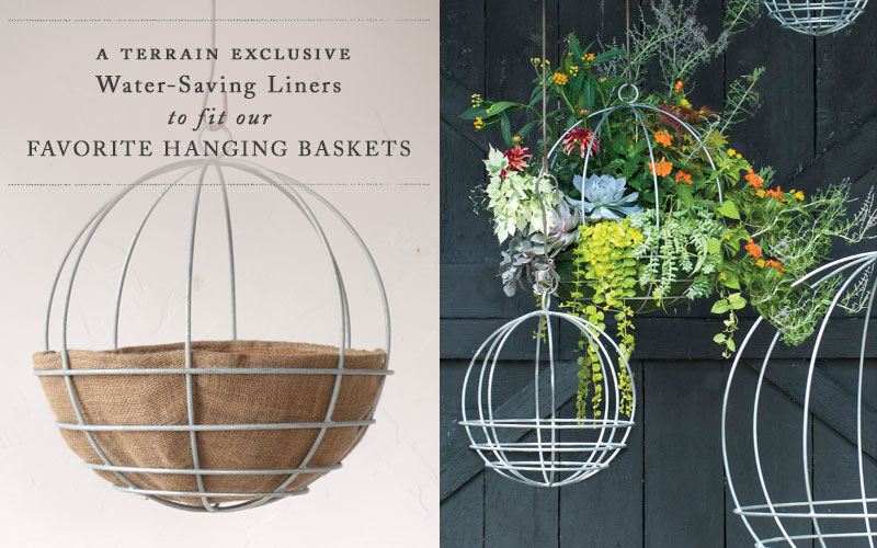 Water-Saving Liners to fit our Favorite Hanging Baskets | Terrain Exclusive