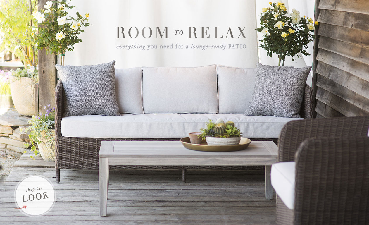 Room to Relax everything you need for a lounge-ready patio