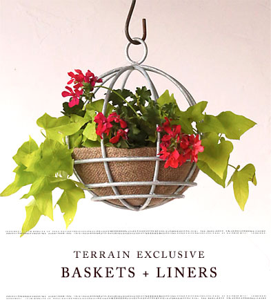 baskets and liners