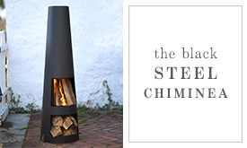 Black Steel Chiminea