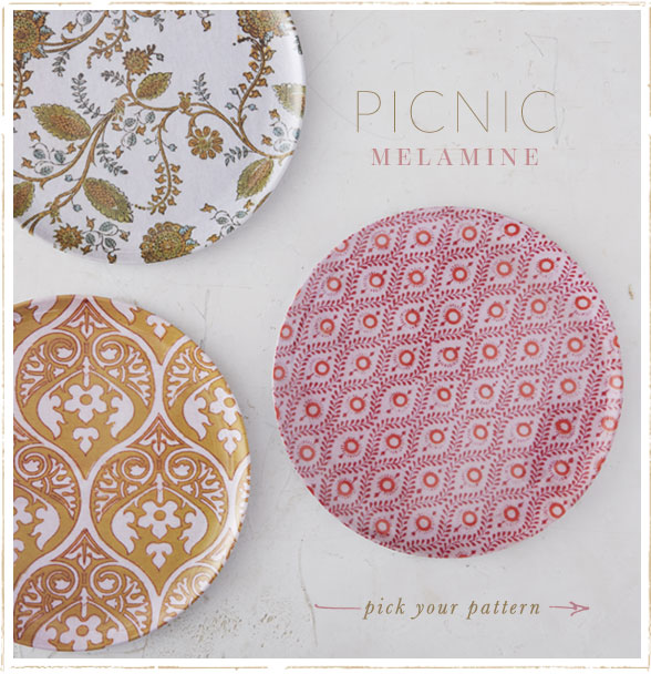 Picnic Melamine | pick your pattern