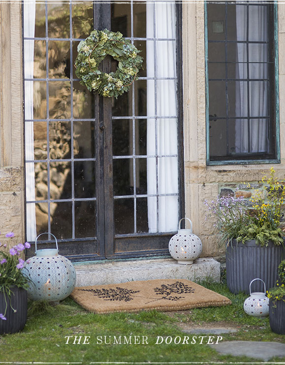The Summer Doorstep | Wreaths | Doormats | Lanterns | Planters
