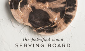The petrified wood serving board