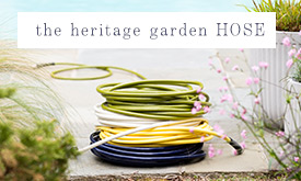 6 colors of the The Heritage Garden Hose