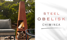 NEW Steel Obelisk Chiminea