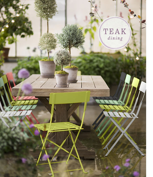 Protected Teak Dining