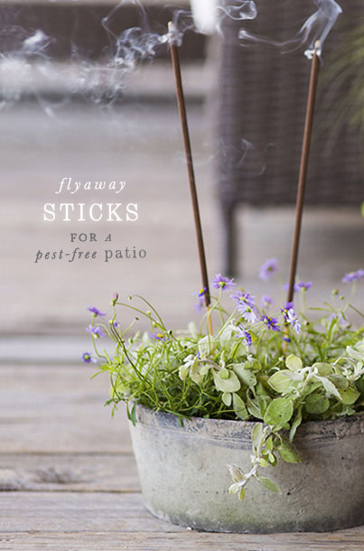 Flyaway Sticks | for a pest-free patio