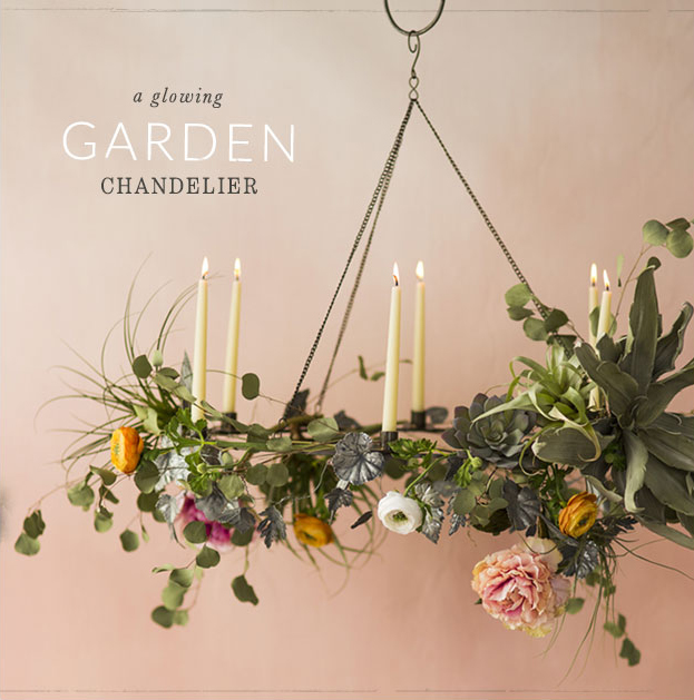 A Glowing Garden Chandelier