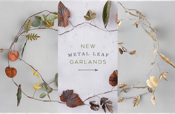 New Metal Leaf Garlands