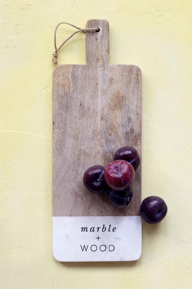 Marble + Wood