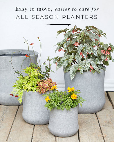 Easy to move, easier to care for | All Season Planters