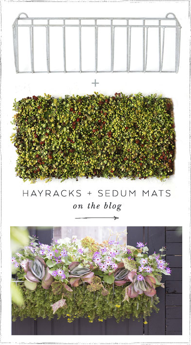 Hayracks + Sedum Mats | on the blog