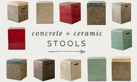 Concrete and Ceramic Stools
