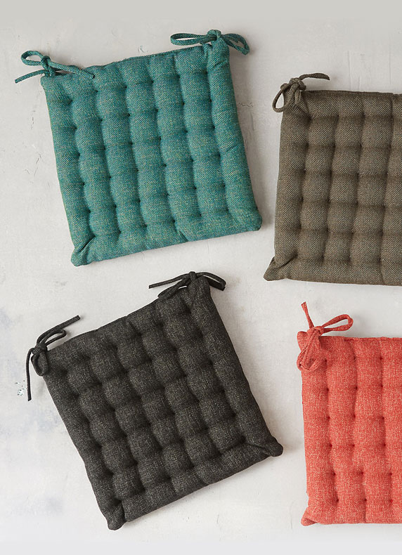 Tufted Dining Chair Cushions | in 6 shades