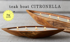 Teak Boat Citronella Candles