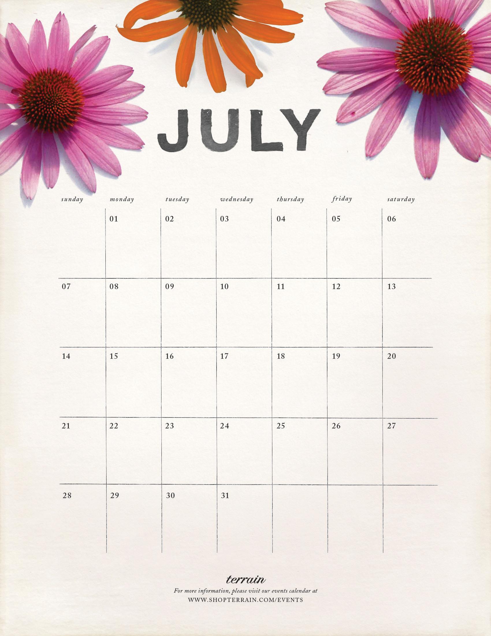 1700 x 2200 jpeg 1188kB, Typable Calendar July 2013 | New Calendar ...
