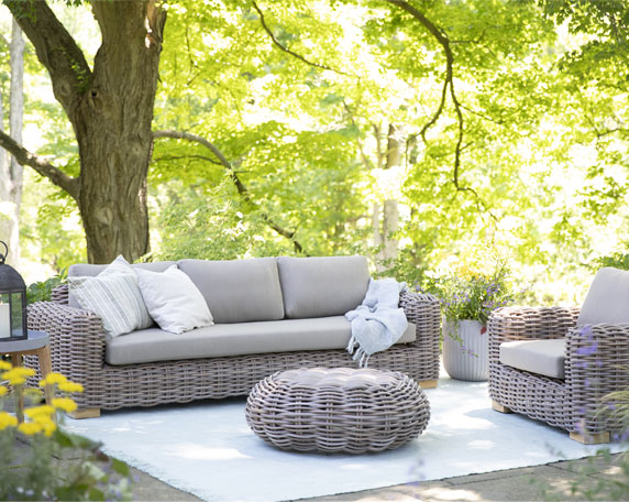 Summer Mood | All-weather lounge furniutre for an outdoor living room you won't want to leave | Shop the Space