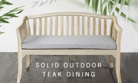 Solid Teak Outdoor Seating