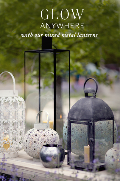 Glow Anywhere | with our mixed metal lanterns