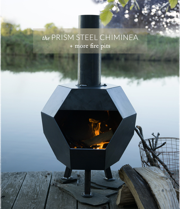 The Prism Steel Chiminea | + more fire pits