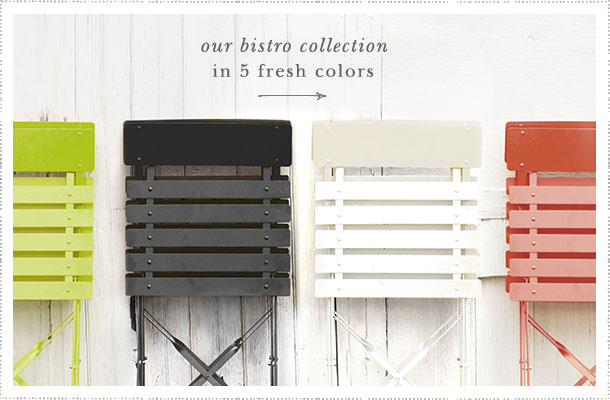our bistro collection in 5 colors
