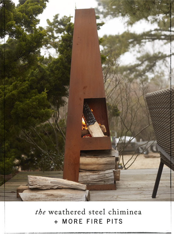 The Hot List | fire pits + chimineas