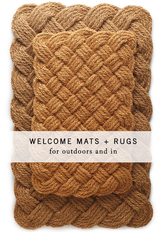 Welcome Mats + Rugs | for outdoors + in