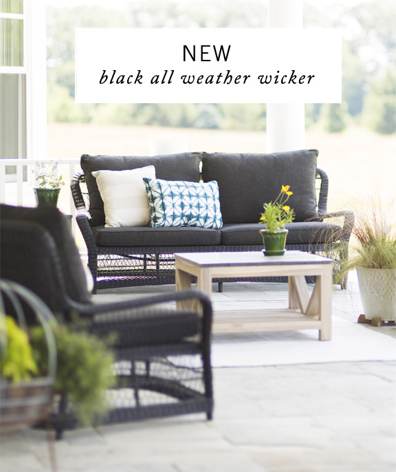 NEW Black All Weather Wicker
