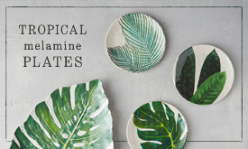 Tropical Melamine Plates