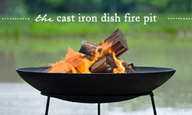 The Cast Iron Dish Fire Pit